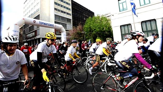 Με επιτυχία ολοκληρώθηκε ο 21ος Ποδηλατικός Γύρος Αθήνας την Κυριακή 6/4 (Photos)
