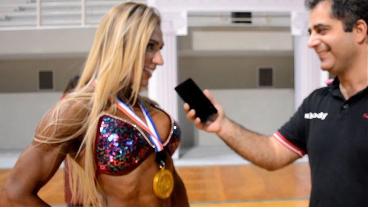 Η νέα IFBB Figure Pro της Ελλάδας, Κατερίνα Μεγάλου μιλάει αποκλειστικά στην κάμερα του XBody.gr μετά το IFBB Diamond Cup Athens 2016.