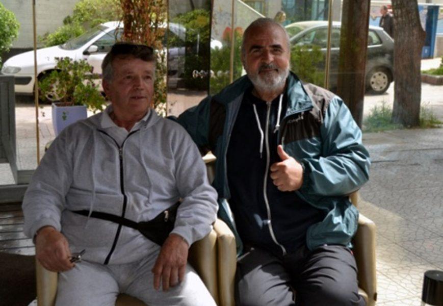 Παναγιώτης Σολωμός με τον Γιώργο Μποτίνη (Απρίλιος 2017)