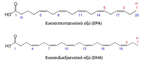 DHA, EPA, ω-3 λιπαρά οξέα, ιχθυέλαιο