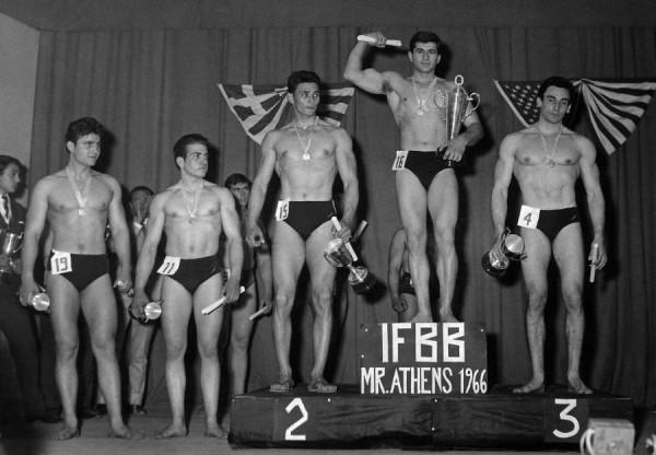 Οι 5 πρώτοι νικητές του Μρ. Αθήναι 1966.
