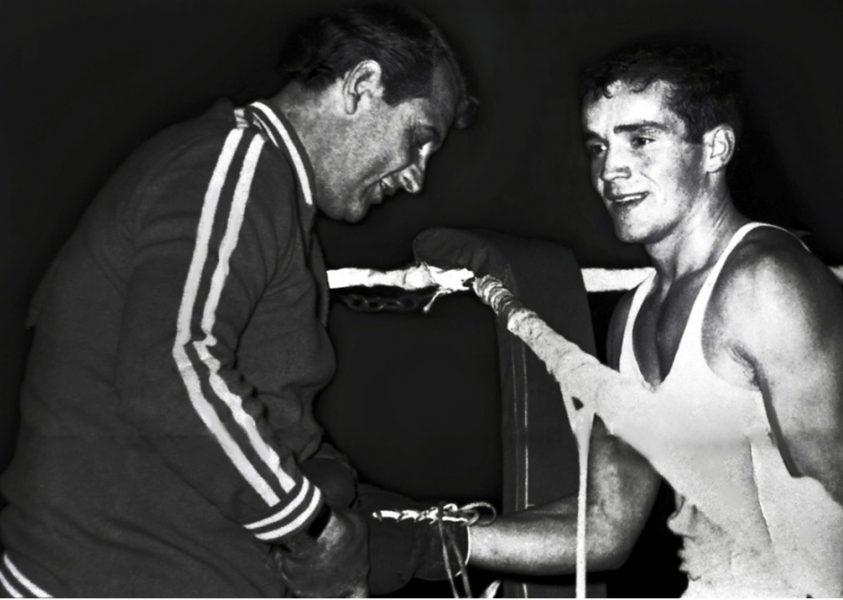 Παναγιώτης Σολωμός με τον εθνικό προπονητή Ντούσαν Μπογκντάνοβιτς