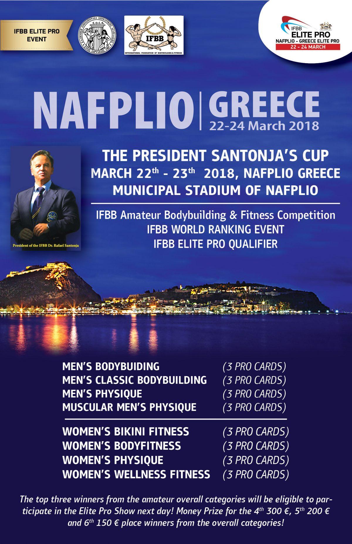 IFBB The President Santonja's Cup Nafplio 2018 @ Δημοτικό Στάδιο Ναυπλίου | Nafplio | Greece