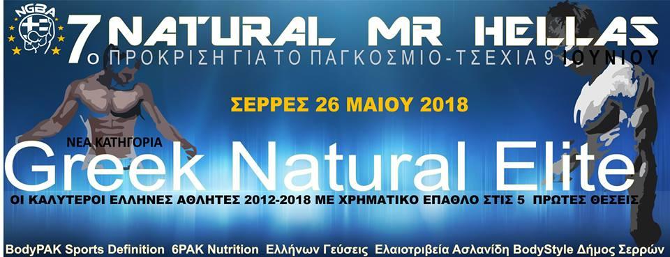 INBA/NGBA 7ο Natural Mr. Hellas 2018 @ Κλειστό Γυμναστήριο Σερρών | Greece