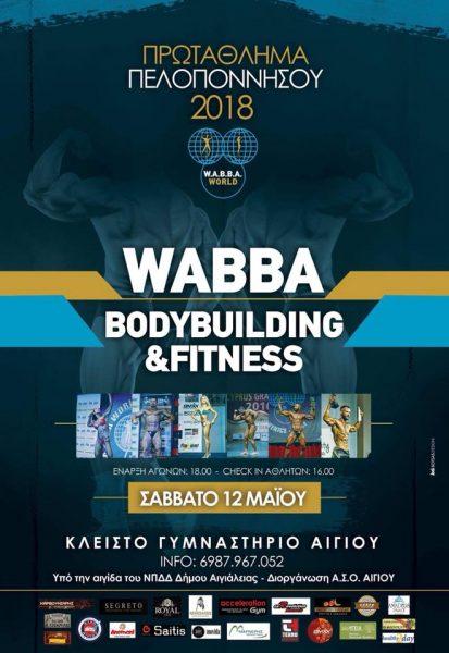 WABBA World Πρωτάθλημα Πελοποννήσου 2018 @ Κλειστό Γυμναστήριο Αιγίου | Egio | Greece